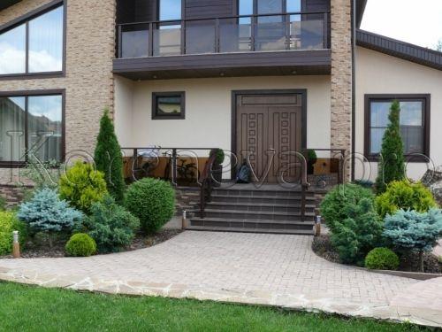 Ландшафтный дизайн - Категория: Ландшафтный дизайн - Изображение: Красиво оформленный вход в дом
