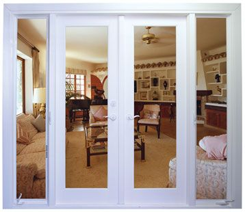 this set up to replace each of the two sets of sliding glass doors