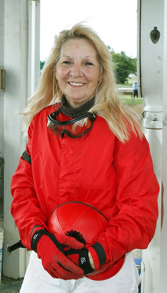 INSPIRING.....67y.o. jockey, Diane King rode the winner of the 8th race today at ThistleDown, on her own horse, Ledgehill.
