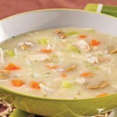 Soupe-repas crémeuse au poulet et riz - Recettes - Cuisine et nutrition…