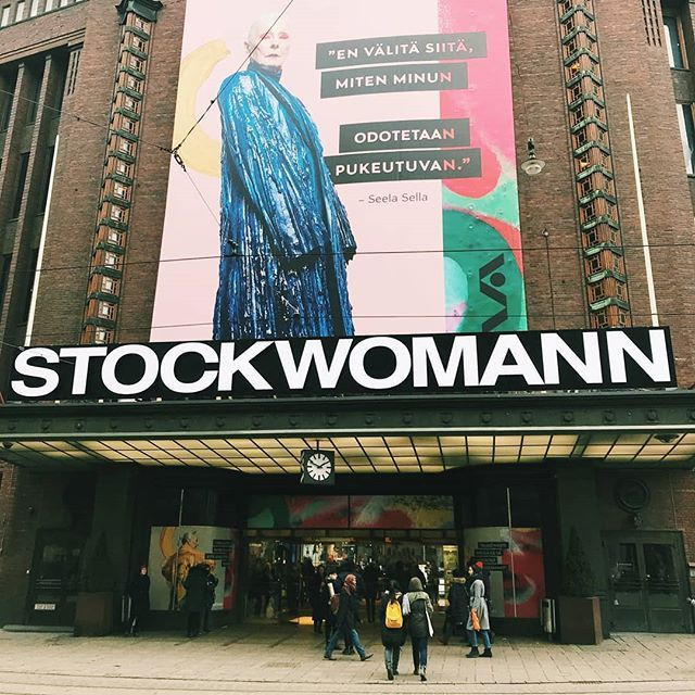Wishing a great Women's Day from Helsinki where the department store Stockmann turned into Stockwomann for the day!  Looking great @stockmanncom . . . . . #internationalwomensday #inspiredaily #inspiration #girlpower #businesswoman #entrepreunialmindset #startuplife #streets #stockmann #stockwomann #visithelsinki #visitfinland