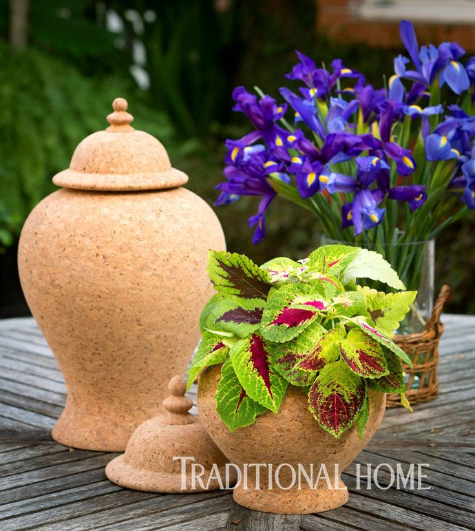 Tres Chic! Our Quinta Cork ginger jars are beautifully styled in this month's issue of @traditionalhome