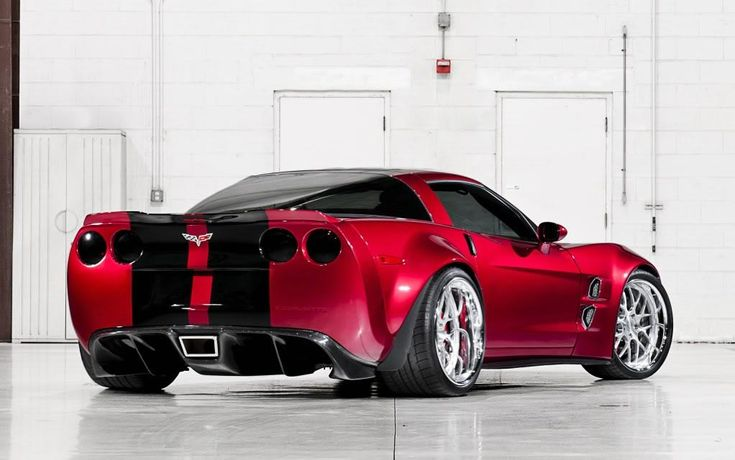 Chevrolet Corvette ZR1 [Sixth Generation C6] Candy Apple Red never looked so good