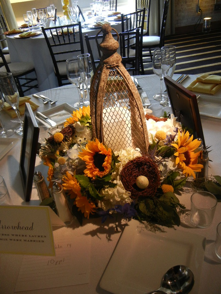 flowers by tina barrera design concept cosmo events  rustic sunflower wedding centerpiece