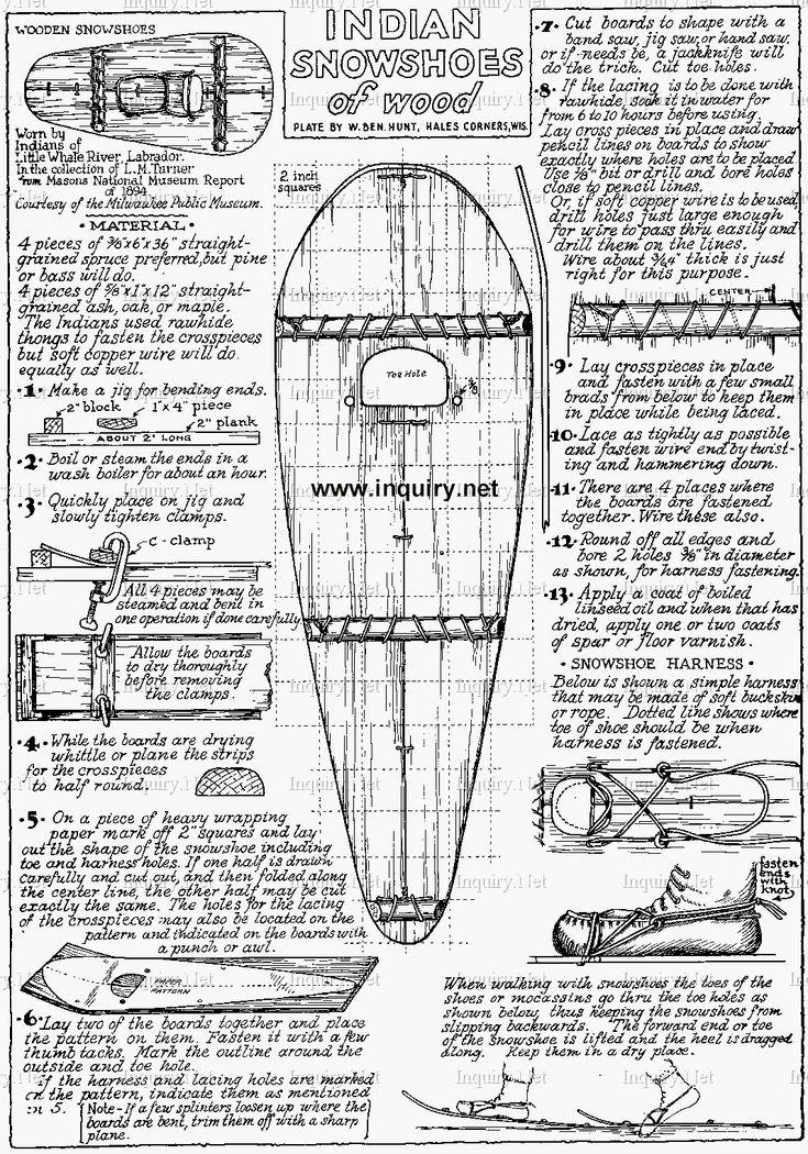 Indian Snowshoes Plan