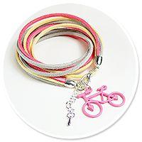 pastelowa bransoletka z rowerkiem nr 2