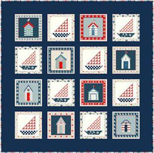 FREE Makower Sea View Quilt Pattern