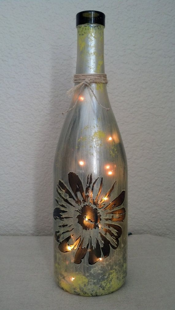Wine Bottle Decoration With Lights 63 Best More Stuff To Do With Wine Bottles Images On Pinterest
