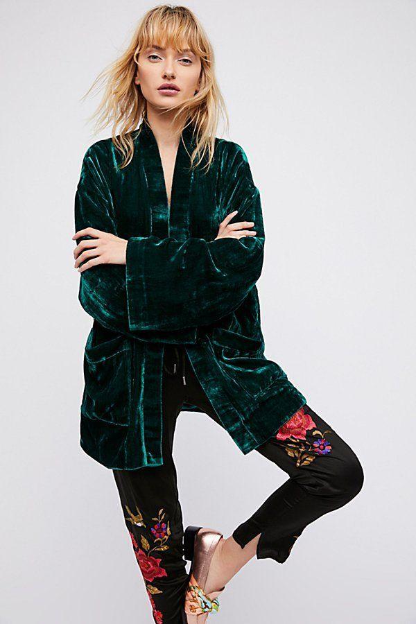 Obi Velvet Kimono