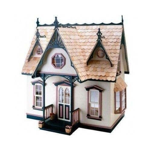 Doll House Kit Wooden Miniature Modelism Furniture Victorian Style Christmas