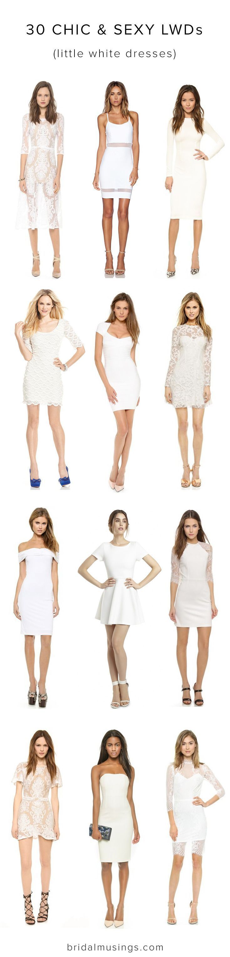 30 of the best Little White Dresses for bridal showers and bachelorette parties!