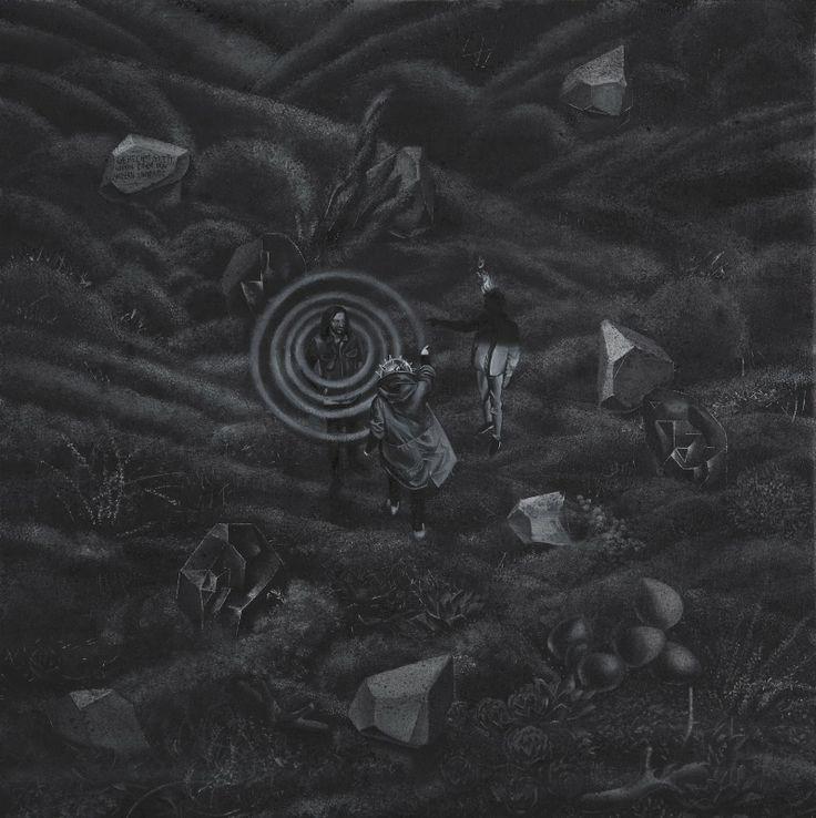 Gerechtigkeit wenn einer den andern umbringt, 2013, 70 x 70 cm, olej, autor: Bartek Buczek autor zdjęcia: Barbara Kubska