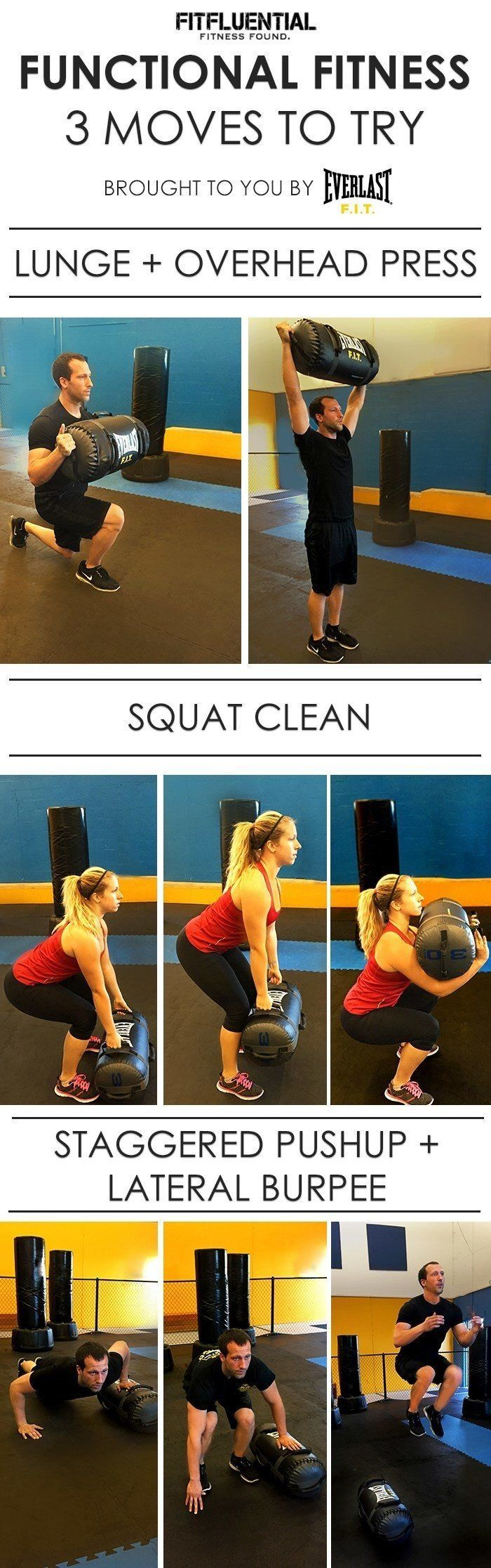 Functional Fitness is a big buzzword right now, and with good reason. It helps you do your daily activities, but better. Work out with Everlast FIT and incorporate these 3 functional fitness moves into your routine.