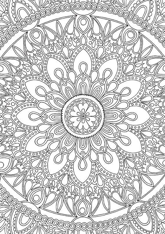 275 best FREE Adult Coloring Book Prints images on Pinterest - copy extreme mandala coloring pages