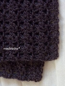かぎ針編みのストール・編み図 | madeleine's blog