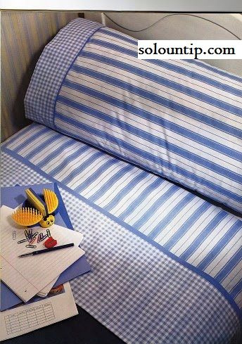 How to make bed sheets...from a different country so hard to understand...but there are step by step pics!