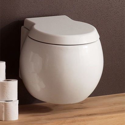 Planet Wall Mounted Toilet. Wall mounted toilets also take up less floor space by mounting the tank in the wall so it doesn't stick out as far. Could gain as much as 10 inches of floor space I. Front of you toilet. That's huge in a small bathroom.