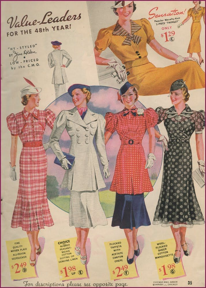 Just love these 1930s vintage fabric patterns - they were so stylish!