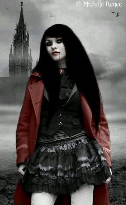 gothic vampire bloody girl - photo #36