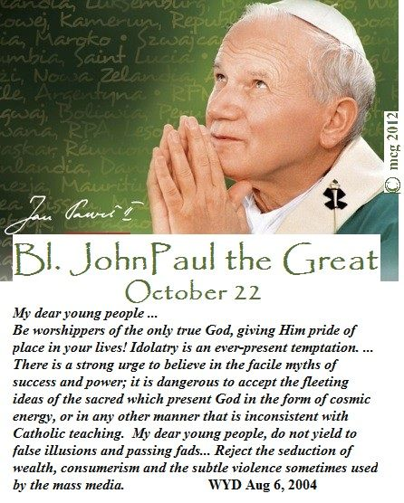 Blessed John John Paul's message to youth.