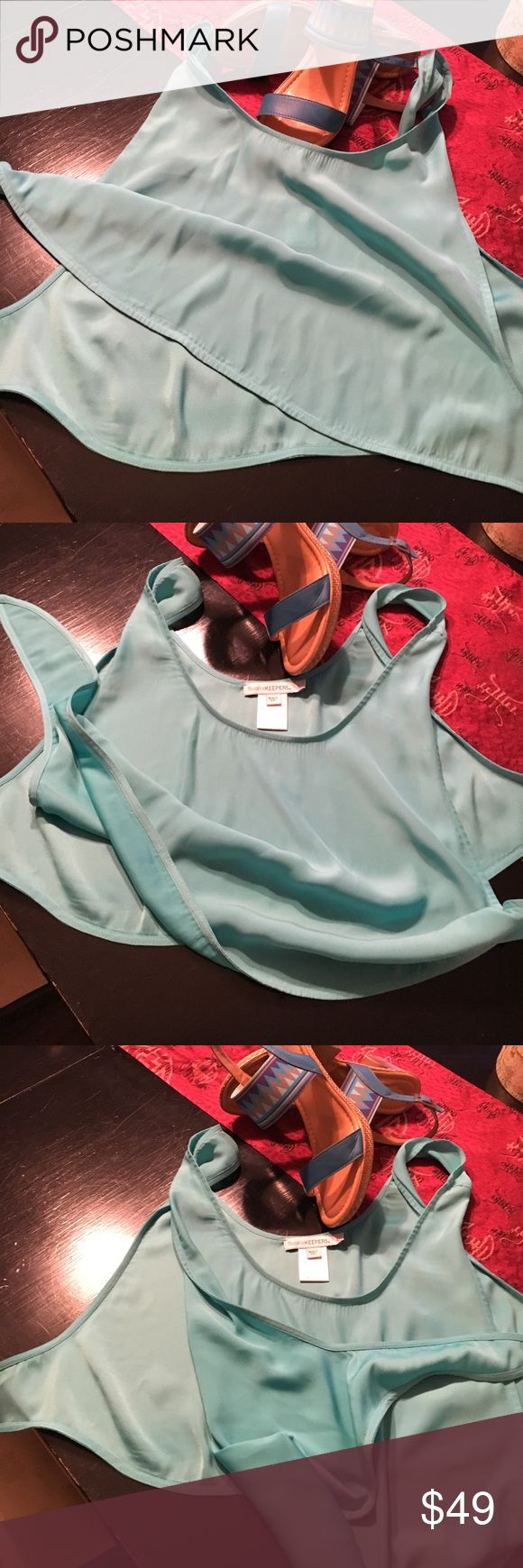 Finders keepers top Finders keepers open side turquoise top Finders Keepers Tops Crop Tops