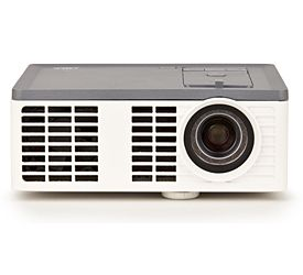 The 3M Mobile Projector MP410 business projector is highly portable and bright for its size.