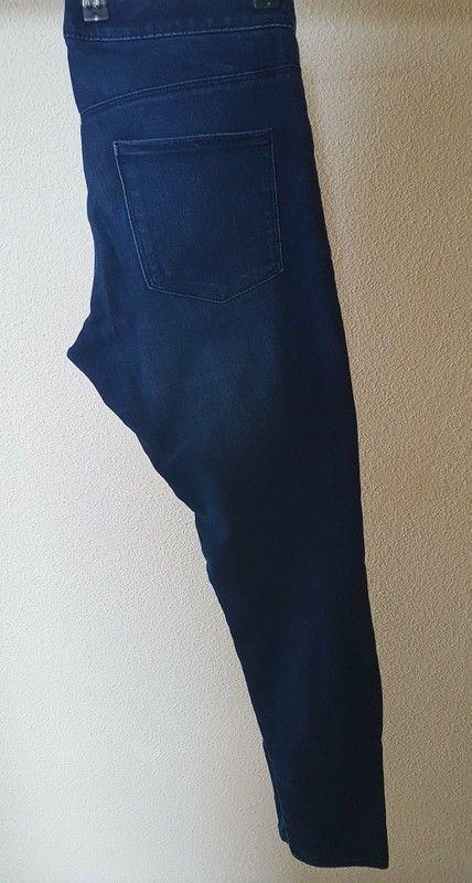 Pantalon skinny tregging Jean bleu Taille haute