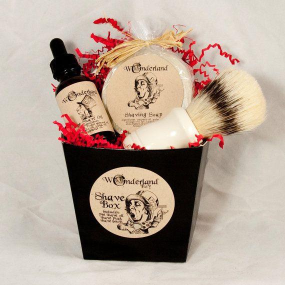 Caja de regalo de afeitado hombre, afeitado Set, Kit de afeitar con brocha de…