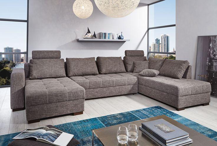 ANTAS - Moderne bedcanapé met een hoog zitcomfort dankzij de zes grote rugkussens en de twee hoofdsteunen. Beschikbaar in meerdere kleuren | Meubelen Crack