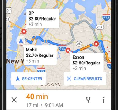 Google Maps released a cool update just for Android users: gas prices along your route.   Google Maps Can Now Help You Find The Cheapest Gas