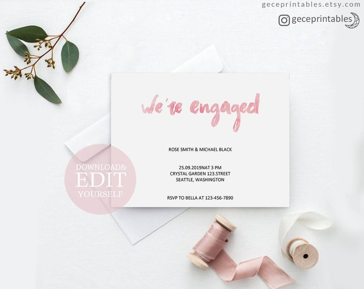 Best 25+ Engagement invitation template ideas on Pinterest - engagement party invites templates