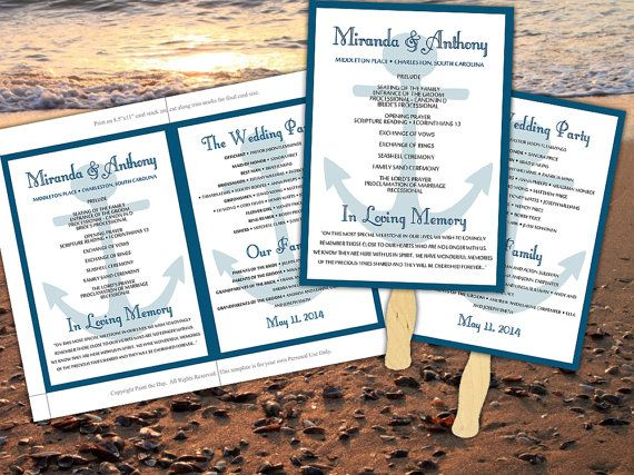 25+ Best Ideas About Wedding Ceremony Program Template On
