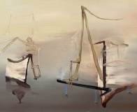 Untitled (Tents), 24x30in. SOLD