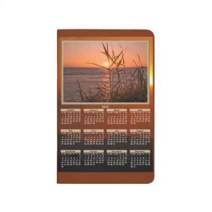 #Sunset Calendars on both sides 2018-2019 Journal - #office #gifts #giftideas #business