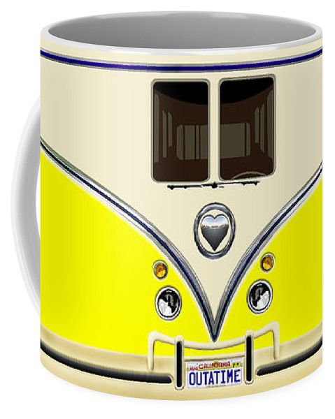 Yellow Teal Minibus Love Bug Coffee Mug Available for @pointsalestore #mug #vehicle #bus #minibus #toys #cartoons #train #kids #toddler #funny #cute #love #valentine #truck #outomotif #car #vintage #retro #classic