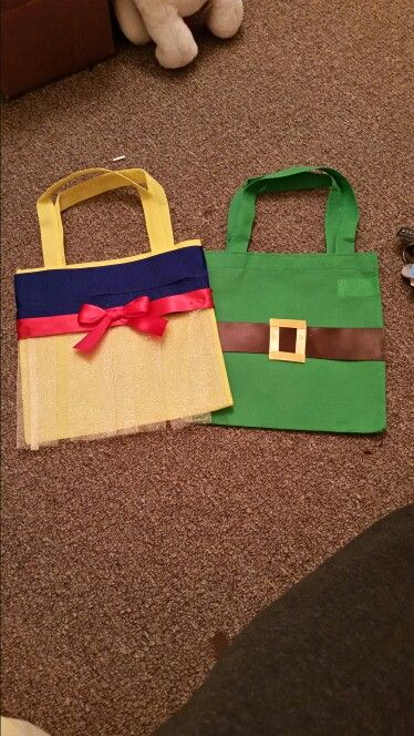 Snow white and 7 dwarfs candy bags- DIY