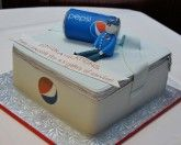 3D Pepsi Can Cooler Bag Cake with @Jan Frint can and Pepsi man