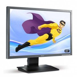 "Ecran Plat PC 22"" ACER B223W LCD 1680x1050 16/10 Widescreen TFT TN VGA DVI"