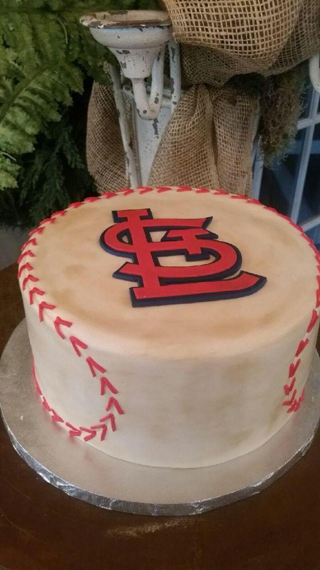 St. Louis Cardinals baseball cake