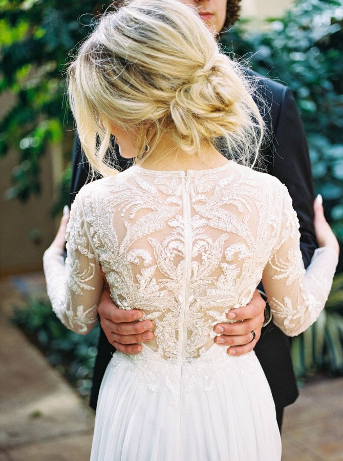 Stunning embellished lace gown: http://www.stylemepretty.com/oregon-weddings/west-linn/2016/06/22/this-black-tie-wedding-is-filled-with-every-trend-youll-see-this-wedding-season/ | Photography: Linnea Paulina - http://linneapaulina.com/