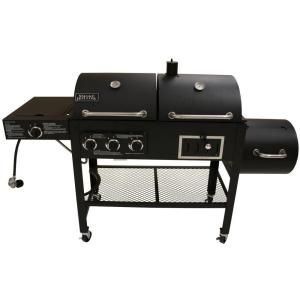 Smoke hollow triple function propane gas charcoal grill and smoker - Home depot bbq propane ...