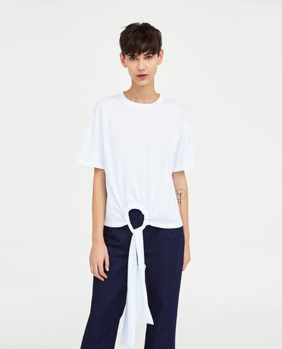 e1874c55cce T-SHIRT WITH GATHERED BOW-View All-T-SHIRTS-WOMAN