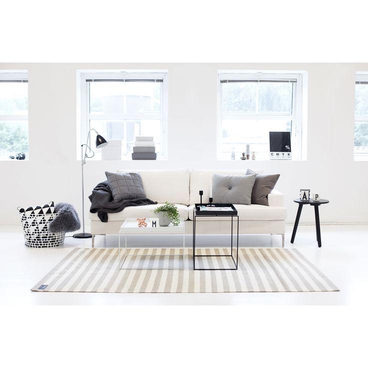 All white with grey accents. // Scandinavian design, Nordic interior, minimal decor, Hay.