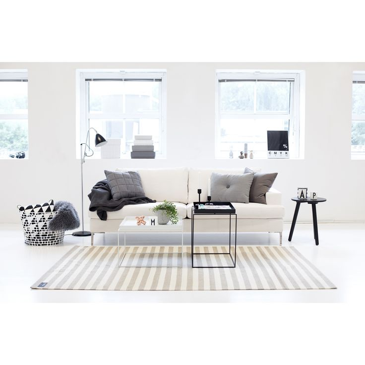 All white with grey accents. // Scandinavian design, Nordic interior, minimal decor, Hay.