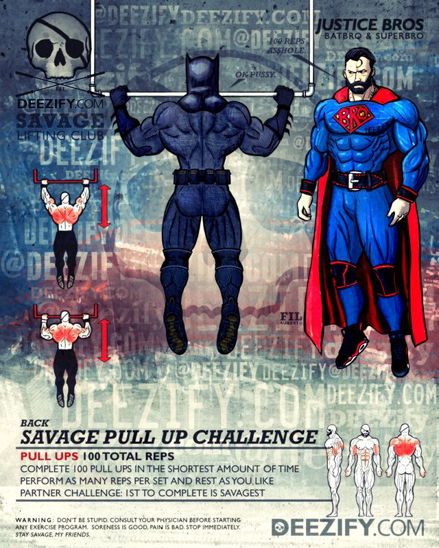 back exercise: pull ups justice league