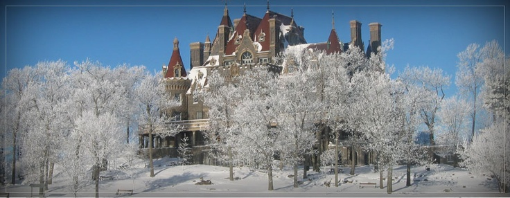 boldt castle  winter wonderland