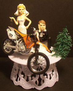 $49 MOTORCYCLE KTM 520 Dirt Bike Got the Key WEDDING CAKE TOPPER FUNNY ! Groom Cake