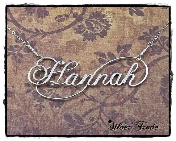 Personalized Name Necklace Sterling Silver by SilverTrove on Etsy