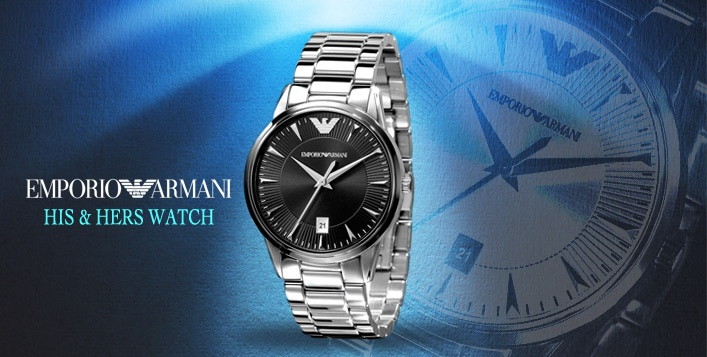Go glamorous this season with a classic Emporio Armani Watch. Prices start from AED 999 – Available in Male and Female Styles!