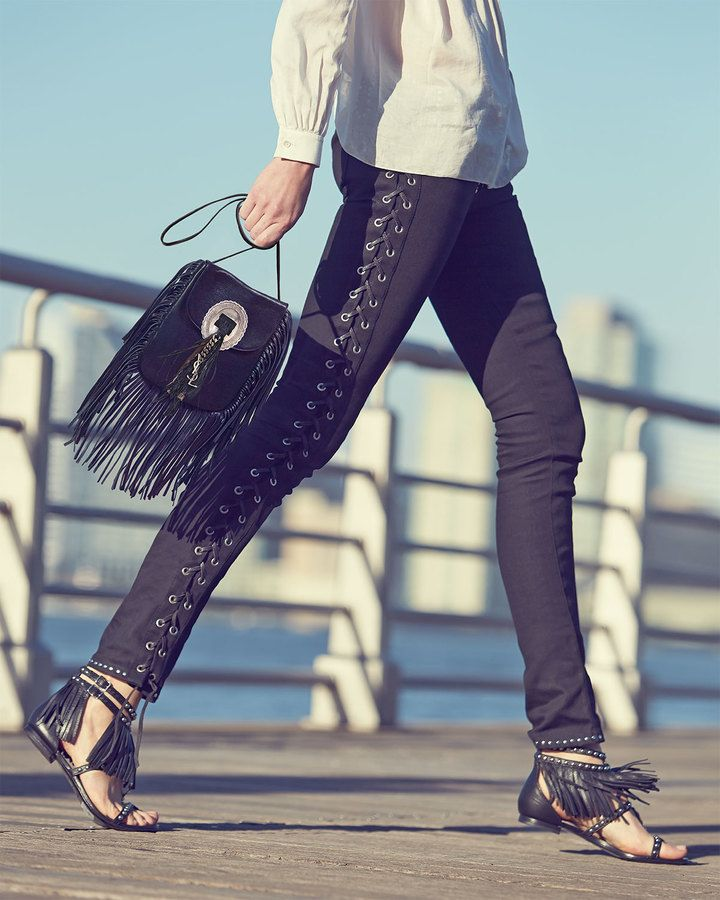 huge handbags for cheap - yves saint laurent helena small fringed textured-leather shoulder ...